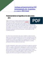 Posicionamiento de Argentina en la web.doc