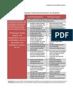 Exemplary CSR Declaration by Hospitals