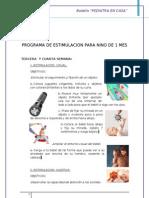 Programa de Estimulacion Para Nino de 1 Mes - Tercera Cuarta Semana