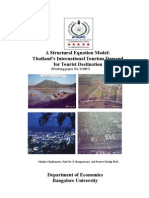 Content of a Structural Model for Thailand's International Tourism Demand