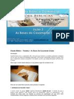 Estudo Biblico -as bases do casamento cristão