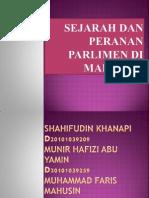 Sejarah Dan Peranan Parlimen Di Malaysia