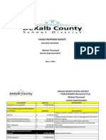DeKalb County Schools Fiscal Year 2014 Proposed Budget Executive Summary