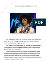 """Lauryn Hill's Real Crime? She broadcast A """"Conspiracy Theory."""""""