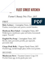 Fleet Street Kitchen Secret Menu
