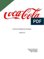 Coca Cola Financial Statement Analysis