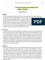 Beland 2007 the Social Exclusion Discourse Ideas and Policy Change
