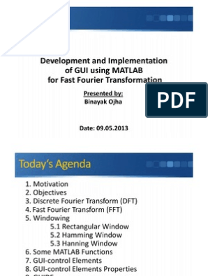 GUI Development using MATLAB for FFT | Discrete Fourier Transform
