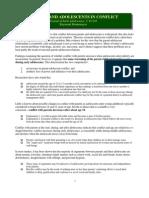 Montemayor, Parents and Adolescents in Conflict (SUM)