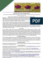 Jumaa Prayer 10 May 2013