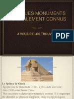 Monuments Diaporama