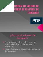 OBTENCIÓN DEL VOLUMEN DE TIERRA DE UNA PRESA