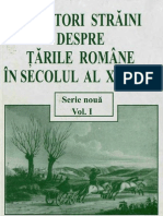 Calatori straini despre tarile romane, Sec.19, Vol.1