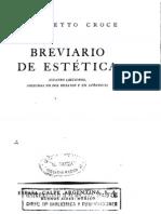Croce Benedetto - Breviario de Estetica