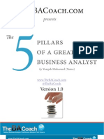 The Five Pillars of a Great Business Analyst_V1.0