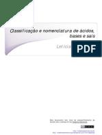 Classificacao e Nomenclatura de Acidos Bases e Sais
