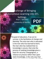 Autonomous Learning Ana Clara