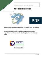 Orientacao de Preenchimento Da NF-e - Versao 1.05