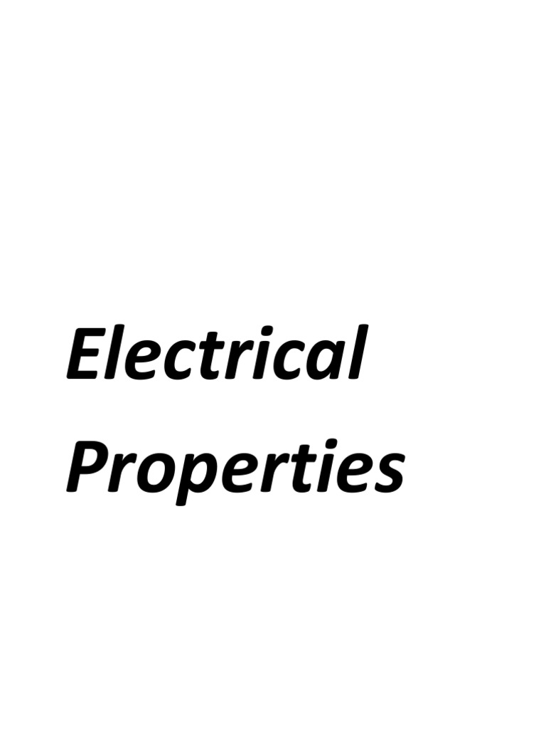 Electrical and Magnetic Properties of Materials