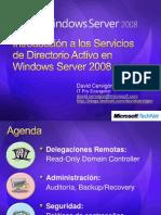 Introduccion a Los Servicios de Directorio Activo en Windows Server 2008