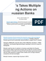 Moody's Takes Multiple Rating Actions on Russian Banks