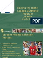 Finding the Right College and Athletic Program
