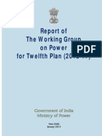Report of Working Group on Power
