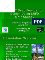 Deep Foundations using LRFD Method
