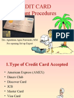 Pre-opeing Training Credit Card