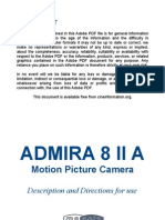 Meopta Camera Admira 8 II a Manual