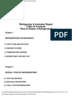 Manual How to Repair Refrigerator