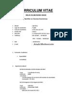 Curriculum Vitae Noviembre 2012