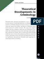 Desarrollos Teoricos en Criminologia