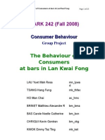 Consumer Behavior of drinking beer in Lan Kwai Fong, Hong Kong