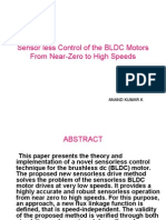 Sensor less Control of the BLDC Motors