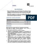 Condiciones Particulares Vida Protegida 2012