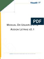 Manual de Usuario v1.0 - Addon Letras