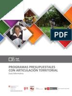 Programas Presupuestales Con Articulacion Territorial
