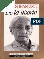 De La Liberte - Jiddu Krishnamurti (1)