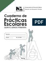 27064 Cuaderno de Practicas Escolares de Quinto Grado