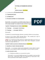 Structura Lucrarii de Licenta