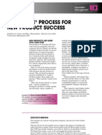 Stage-Gate Process for New Products-Cooper 2001