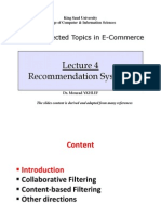 Is593-Lecture04 Recommendation Systems