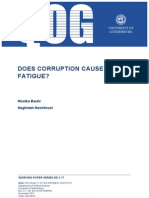Can Corruption Cause Aid Fatigue?