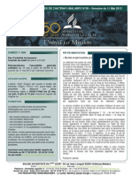 Bulletin d'annonces N°58 semaine du 11 mai 2013