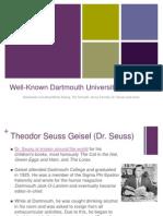Well-Known Dartmouth University Graduates