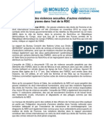 BCNUDH - Communiqué de presse - VDH Goma et Minova - Mai 2013