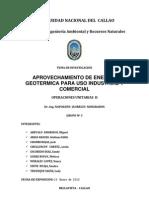 Aprovechamiento de La Energia Geotermal Final