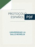 PROTOCOLO-GUION ESPA�OL