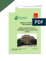 -Manual de Procesos y Procedimientos Del Banco de Proyectos